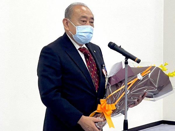 岡﨑会長代行よりお礼のお言葉をいただく