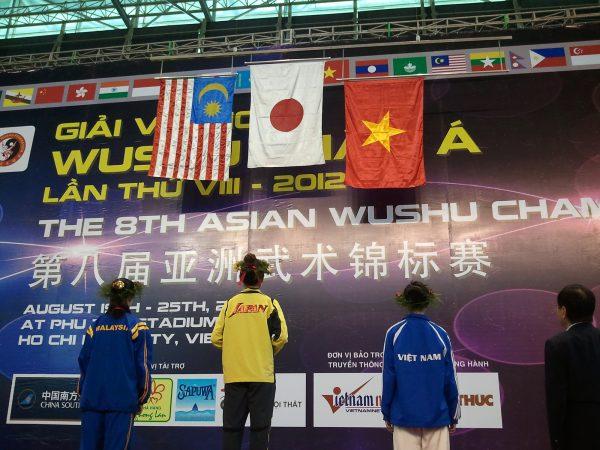 2012年アジア武術選手権(ベトナム)太極拳金メダル獲得