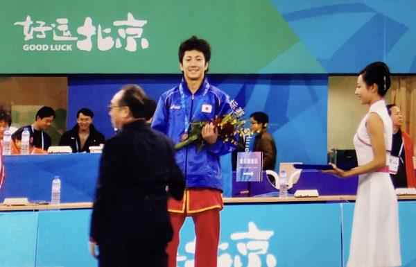2007年、第9回世界武術選手権大会にて男子南拳で銅メダル獲得