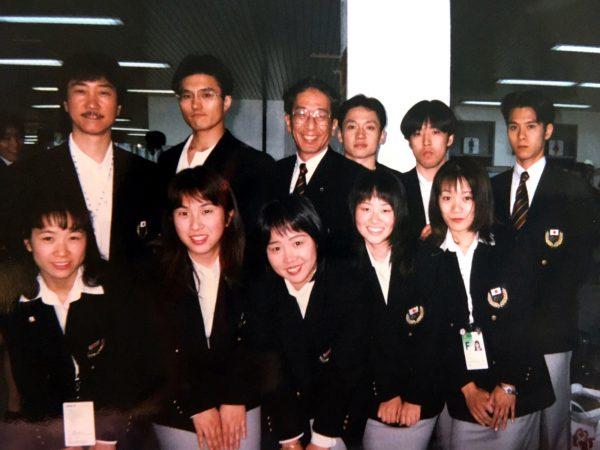 1997年東アジア大会(釜山)の空港にて