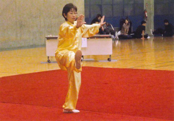 女子24式太極拳Aで第1位を獲得した池村和子選手