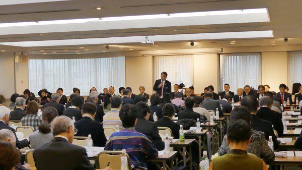 総会には加盟団体の代表とオブザーバー計68人が参加