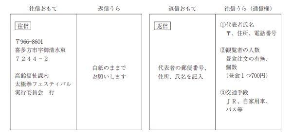 喜多方第15回太極拳フェスティバル_集団演武交流会_一般観覧申込