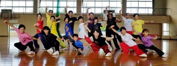 長拳教室のメンバー(現在5歳~70歳)
