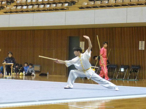 男子長拳長器械・国際第三套路 1位 奥村瑛仁選手(静岡)