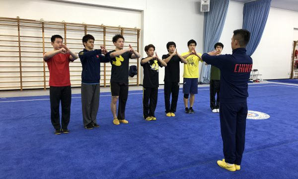 南拳チームは呉賢舉コーチによるご指導を受けた