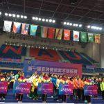 開会式にて整然と並ぶ12ヵ国の選手たち