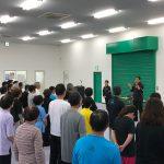 公認A級指導員の試験会場には多くの受験者が集まった