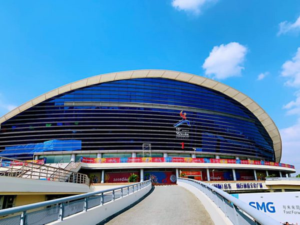会場の上海閔行体育館