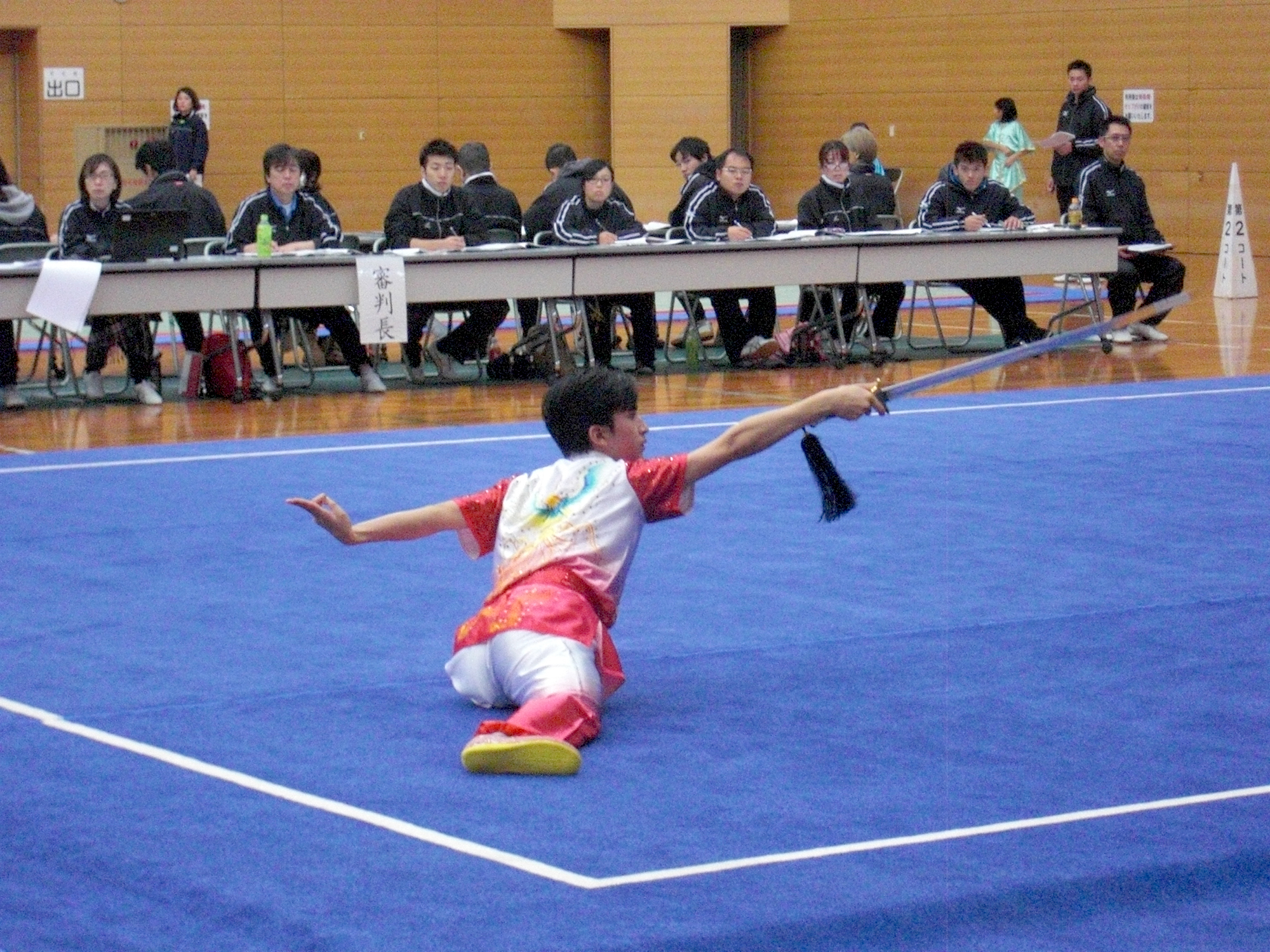 安良城基睦選手の国際第三套路剣術の演武