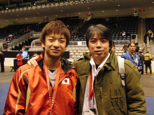 国際大会初出場の日、カナダ・トロントにて中村剛先生と